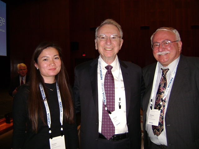 Photo with Dr. Irwin M. Jacobs, MIT professor - Co-Founder of Qualcomm, Author of Principles Of Communication Engineering