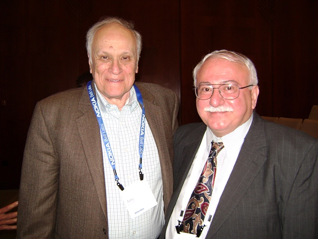 Photo with Dr. Jerry Foschini, Bell Labs Retired Fellow.