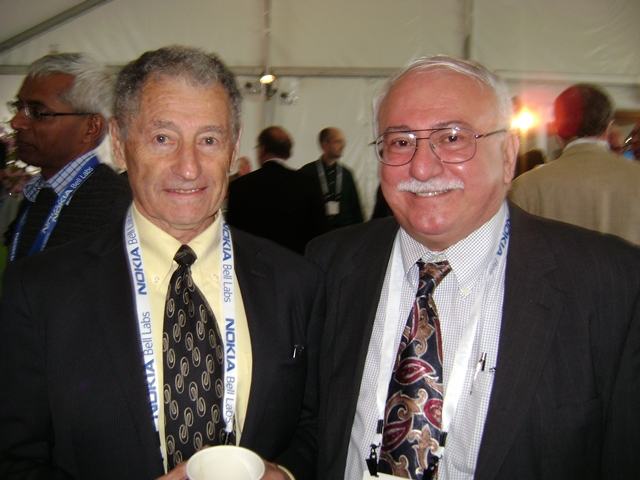 Photo with Dr. Leonard Kleinrock CS Professor of UCLA – Internet Pioneer - who helped develop Packet Switching