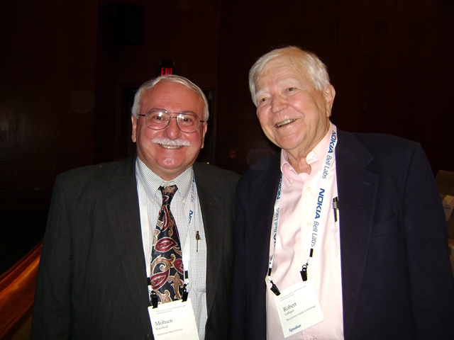 Photo with Dr. Robert G. Gallager MIT ProfessorPhoto with Dr. Robert Lucky inventor of Equalizer