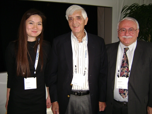 Photo with Dr. Robert Lucky, Retired VP of Bell Labs and Telecordia, Inventor of Adaptive Equalizer, Renowned Visionary
