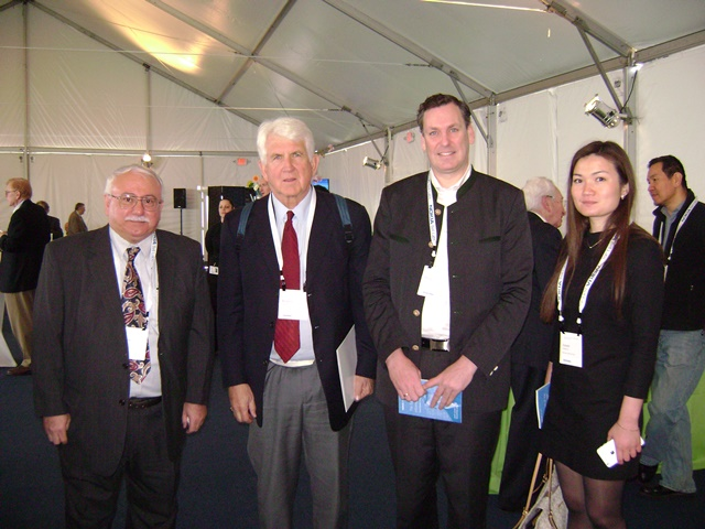 Photo with Dr. Robert Metcalf inventor of Ethernet (now a Prof. at UT Austin) and Dr. Peter Winzer – Editor-in-Chief of IEEE Journal of Lightwave Technology and Dept Head at Bell Labs