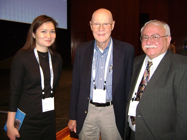 Photo with Dr. Robert Wilson the Nobel Prize Winner on Big Bang Noise measurement